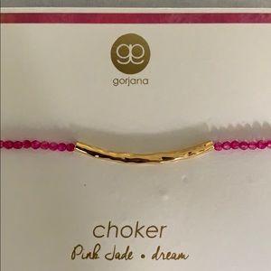 Gorjana choker pink jade dream NWT
